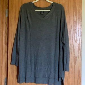 Grey v neck sweater